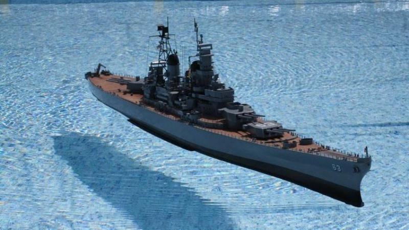Midwest battleship kit - USS MISSOURI BB63 - 1/350 scale