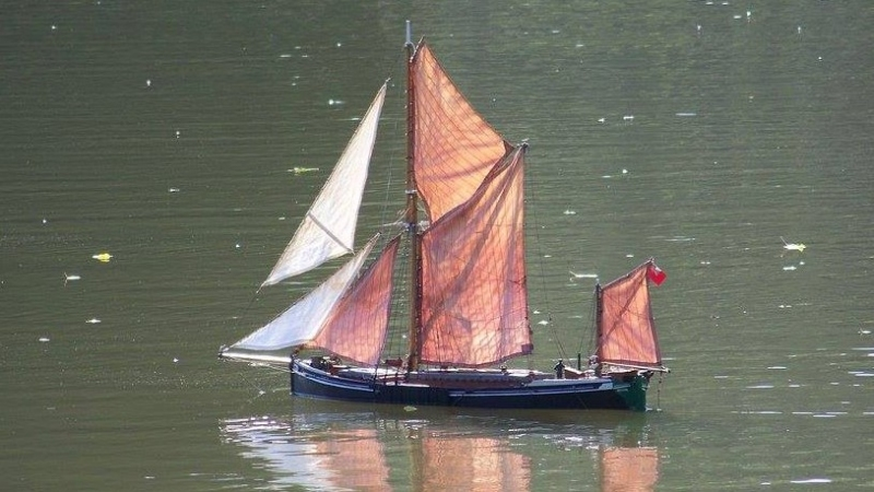 Thames River sailing barge