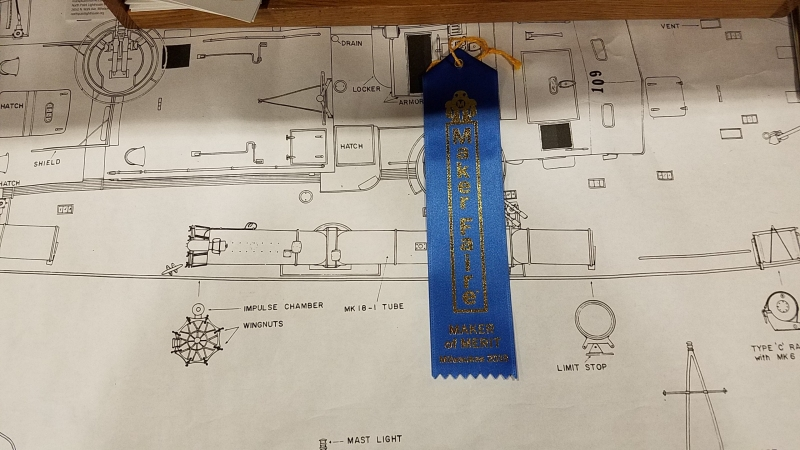The club received a BLUE RIBBON for our display