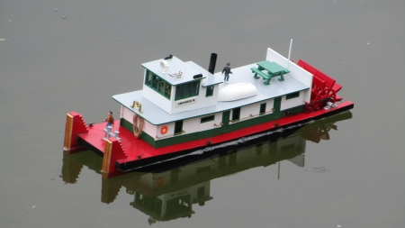 "Stern wheel, diesel towboat - SHERRIE R -1/32 scale (3/8""=1')"